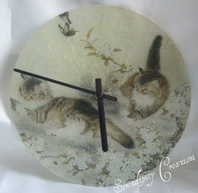 Orologio in Vetro Gatti