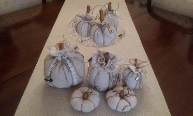 Zucca decorativa in tela di varie dimensioni