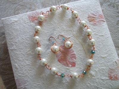 Parure con grosse perle
