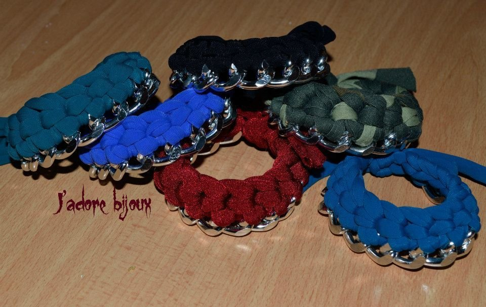 I bracciali catena e lycra