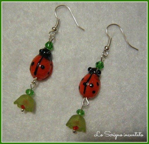 Orecchini Ladybugs