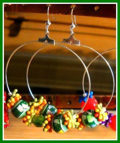 orecchini cerchio tre colori