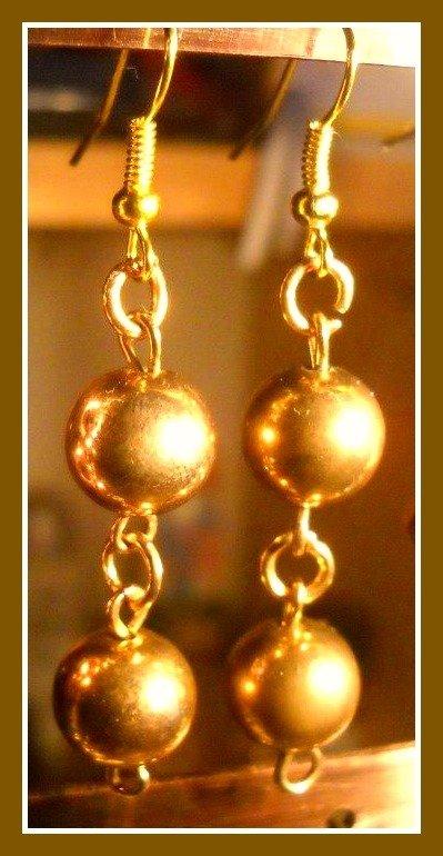 Orecchini color oro