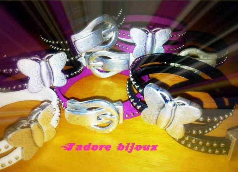 bracciale cuoio borchiato con chiusura magnetica