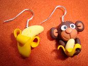 Orecchini Scimmietta e Banana