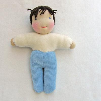 bambola waldorf tascabile 18 cm