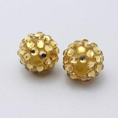 2 perle strass oro