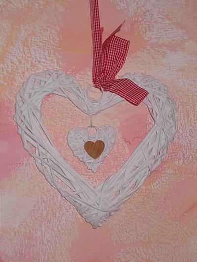 cuore in rattan