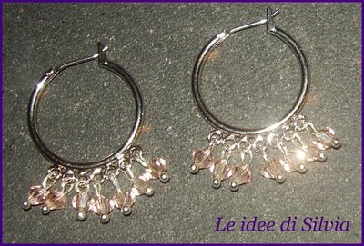Cerchi con cristalli Swarovski rosa