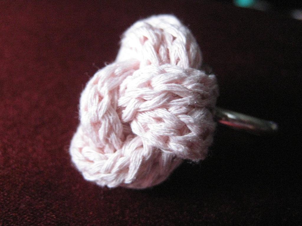 Anello in cotone tubolare rosa confetto