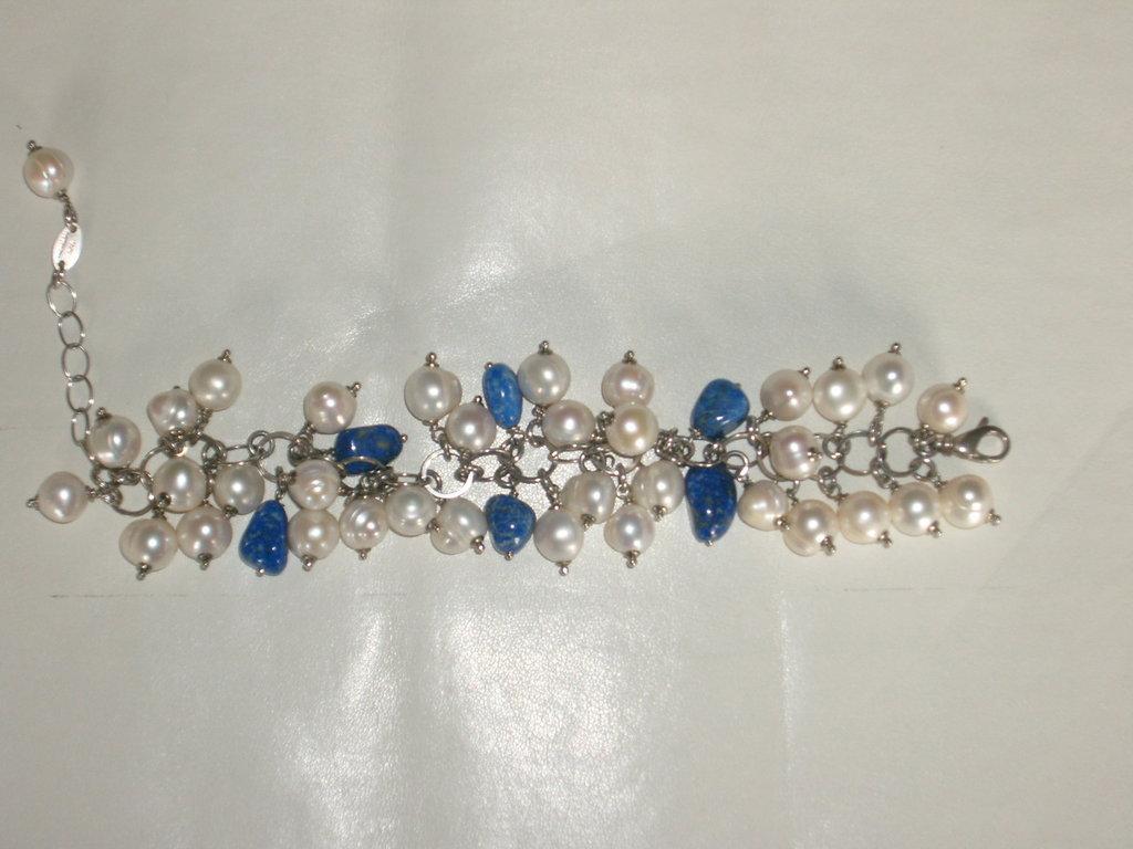 Bracciale argento e perle