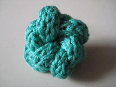 Anello cotone verde acqua