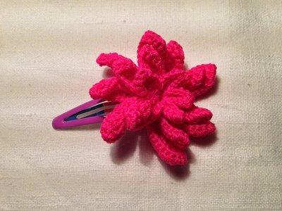 Mollette mollettine forcine per capelli bambina con decorazioni fatte a mano all'uncinetto in cotone (fiore mod. 4)