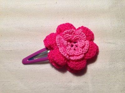 Mollette mollettine forcine per capelli bambina con decorazioni fatte a mano all'uncinetto in cotone (fiore mod. 7)