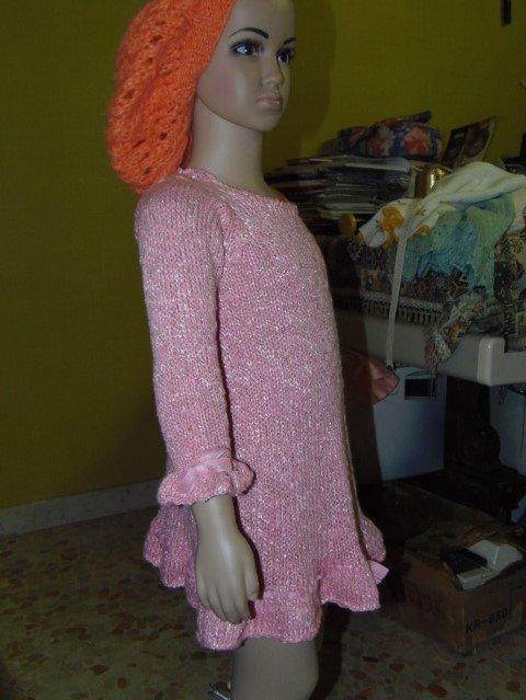 vestito bimba con bordi in seta
