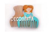 pettine in legno decorato