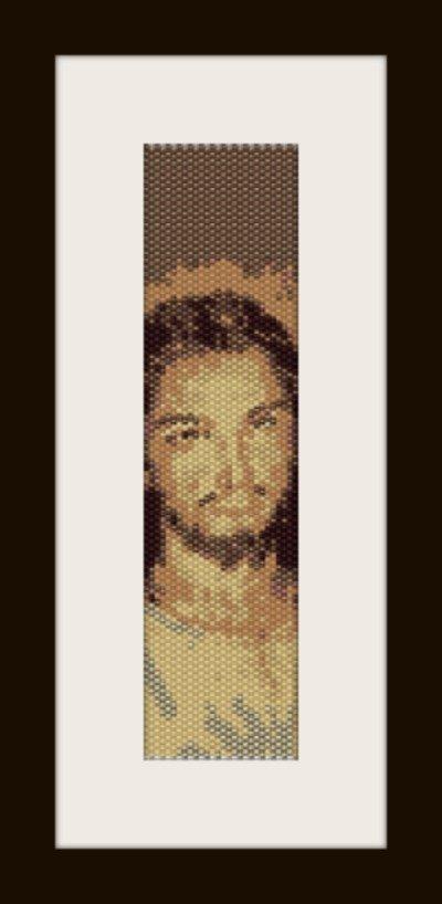 PDF schema bracciale Volto Santo in stitch peyote pattern - solo per uso personale