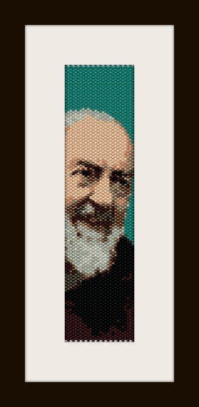 PDF schema bracciale Padre Pio in stitch peyote pattern - solo per uso personale