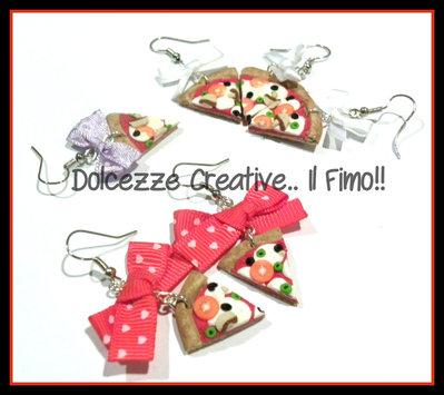 Orecchini Pizza Margherita con funghi e olive