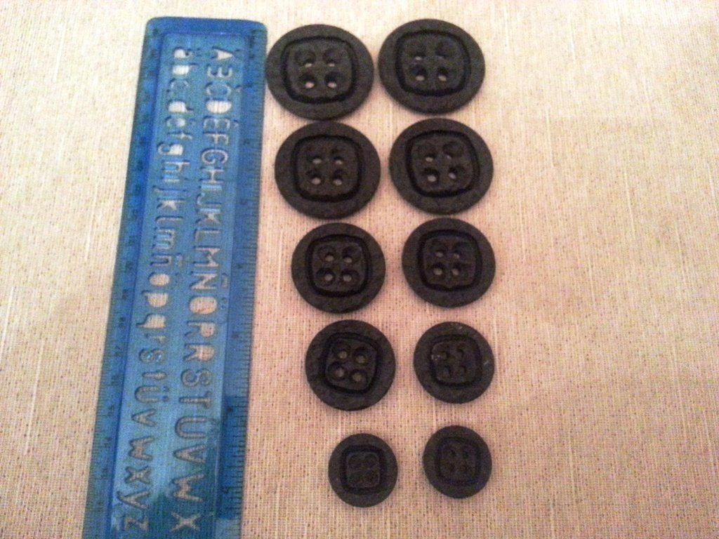 Serie bottoni vintage anni '60