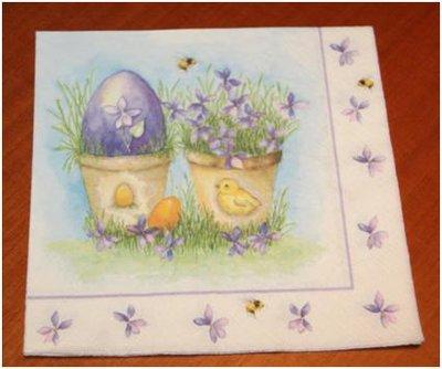 Tovagliolo découpage Pasqua