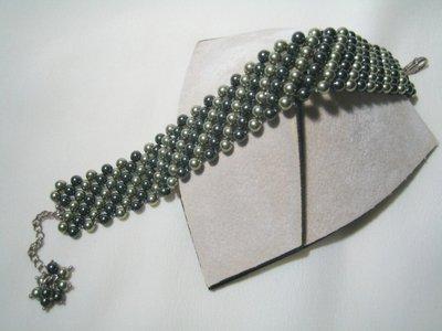 """Pelle Serpente"" - Bracciale in perle Swarovski"