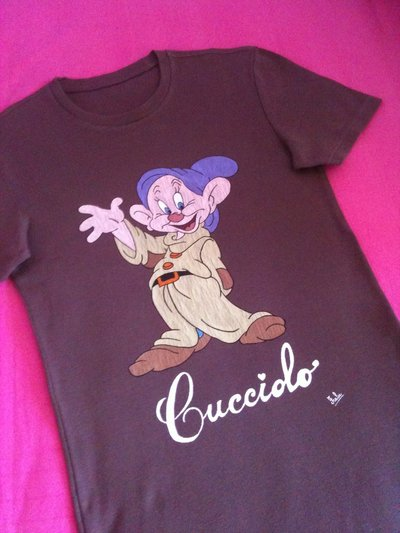 T-shirt Cucciolo dipinta a mano