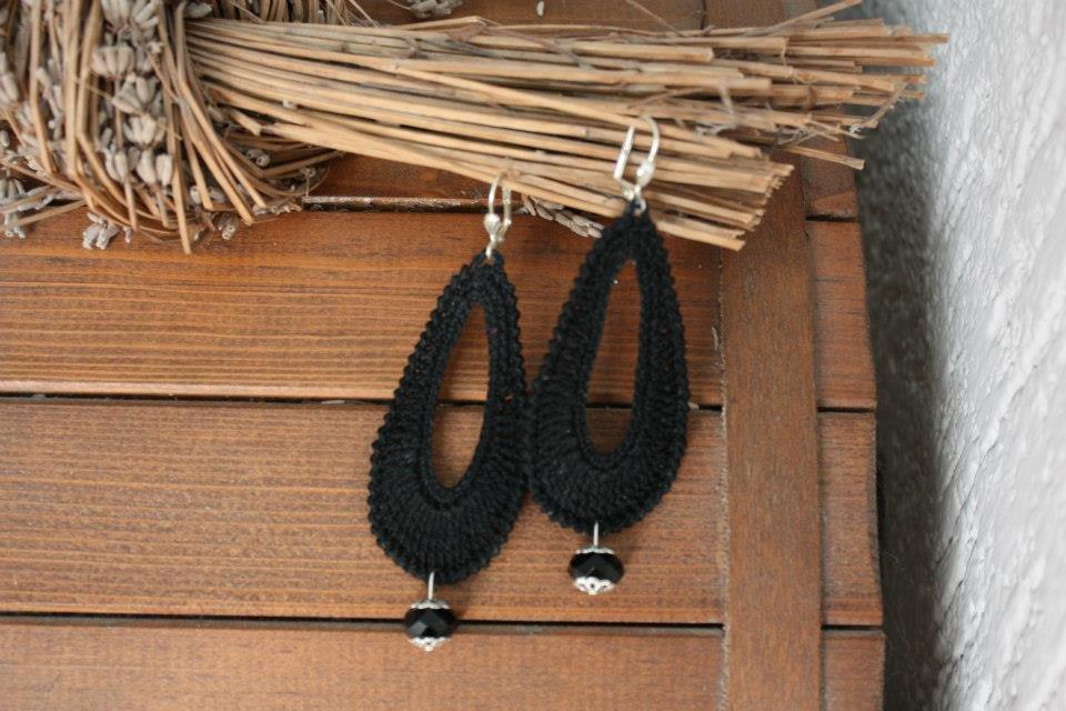 Orecchini Ovale nero