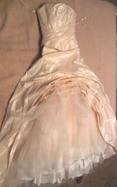 Vestito da sposa rosa cipria