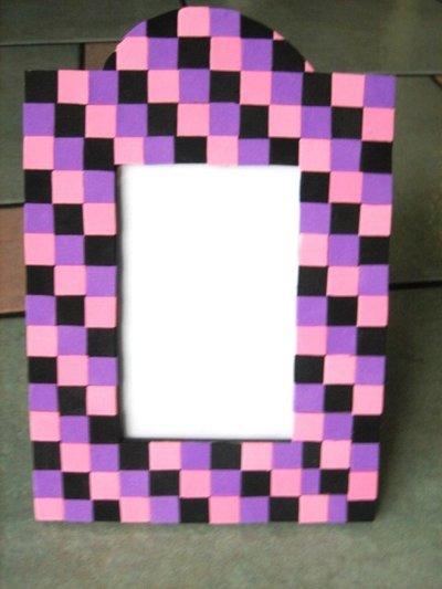 Cornice mosaico con feltro