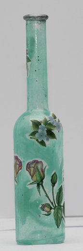Bottiglietta porta essenze con vaso di fiori