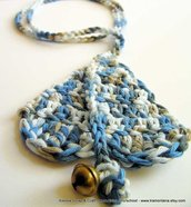 Simple Life Blue Necklace- collana blu a crochet