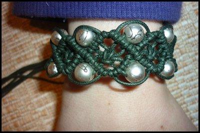 Bracciale a fascia con perle diamantate