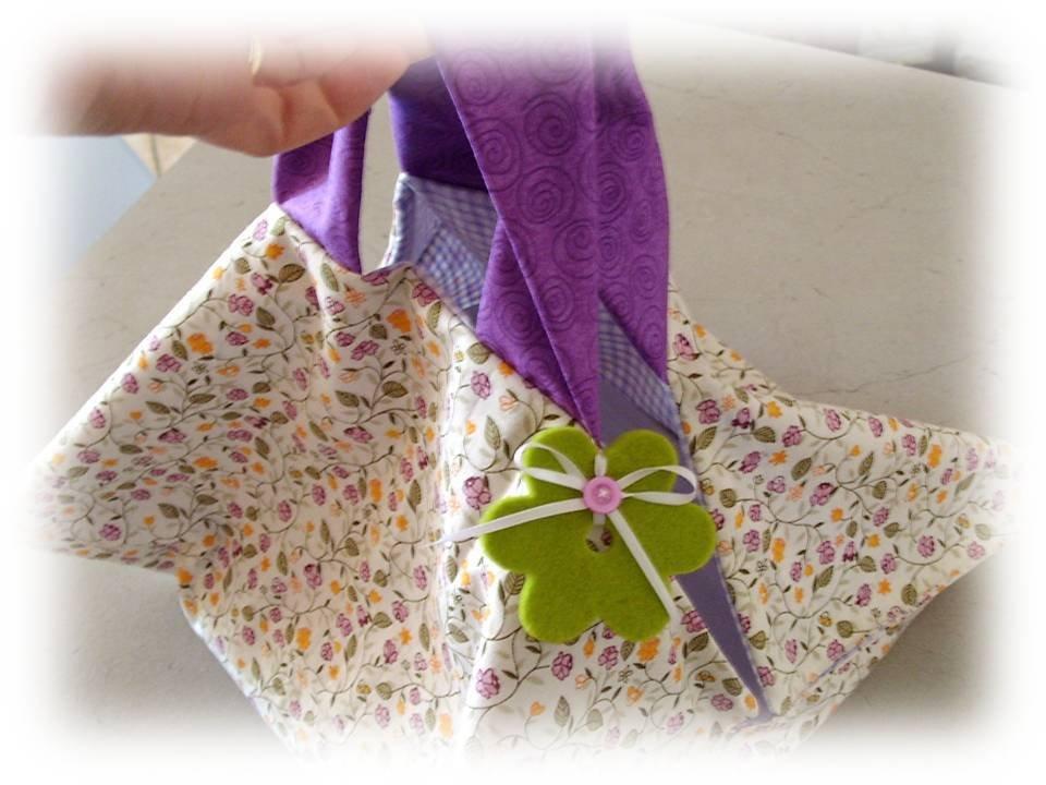 Borsa portatorta- portateglia Violet flowers