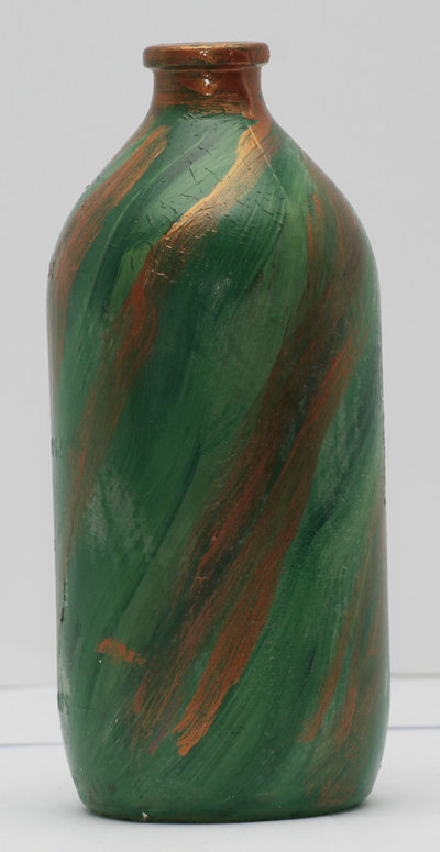 Bottiglia porta essenze dipinta a mano