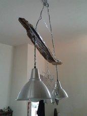 lampadario legno