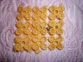 Braccialetto giallo uncinettato
