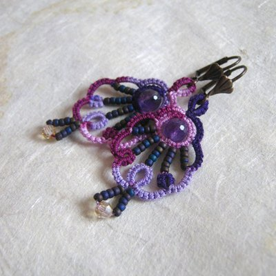 Violet Spring - orecchini a chiacchierino