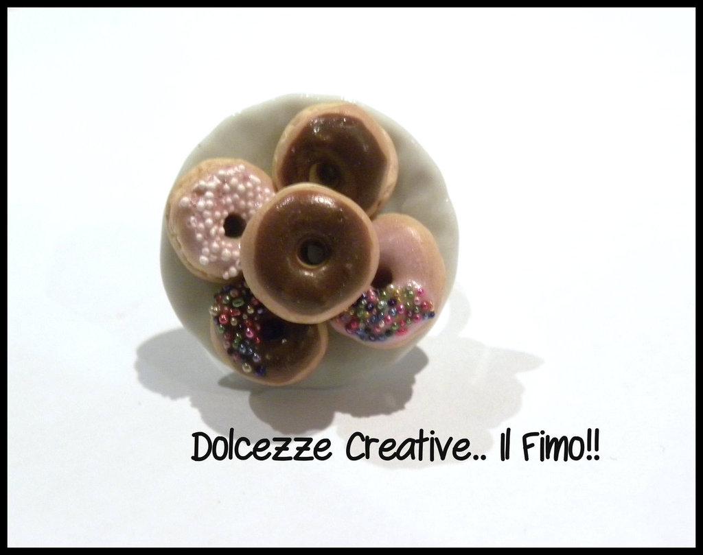 ★★SALDI Anello piatto Donut al cioccolato!