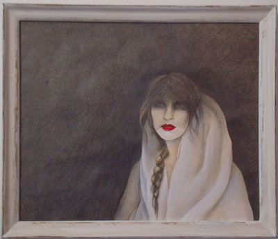 quadro volto femminile