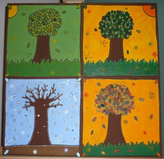 Estremamente Le Quattro Stagioni (quadro per bambini e per adulti  VM81