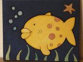 Il Pesce Bacione (quadro per bambini)