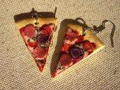 Orecchini PIZZA in miniatura in Fimo e Cernit