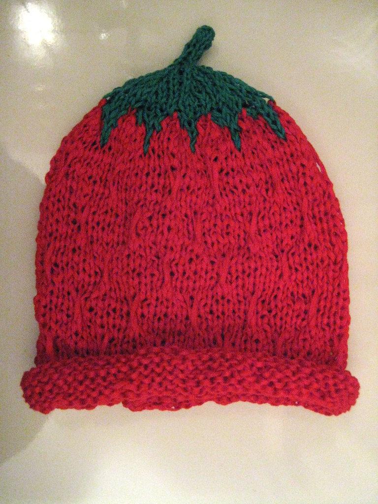 Cappellino cotone fragola