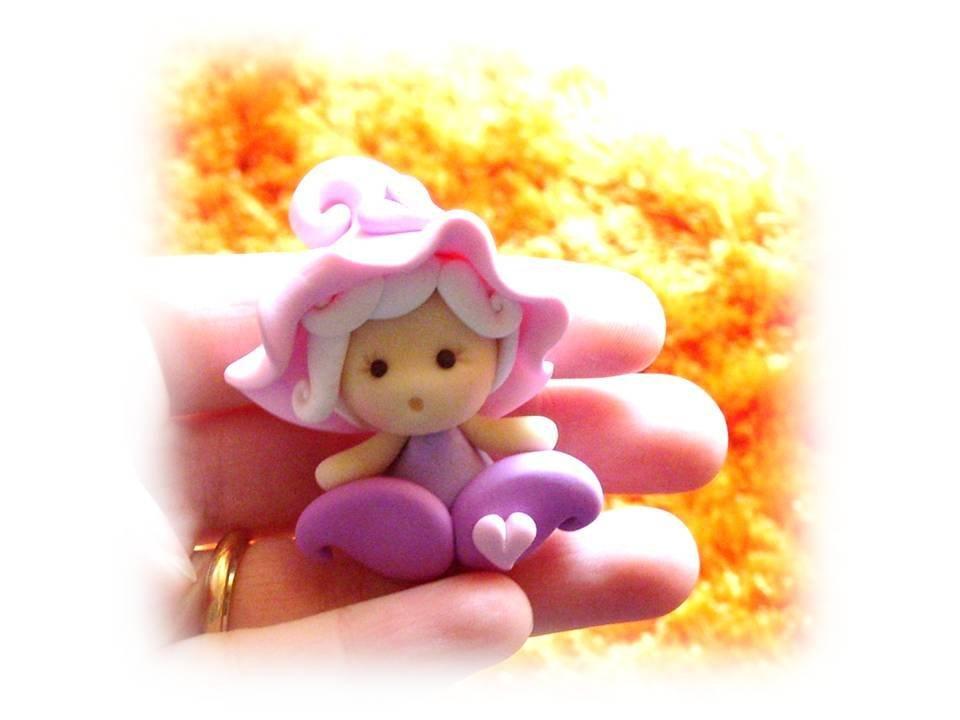 Bomboniera bimba follettina rosa