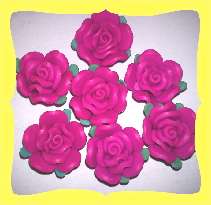 7 Rose forate in fimo