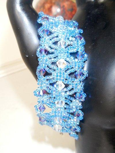 bracciale blu delica
