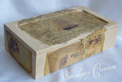 Cofanetto Portagioie in legno Antique Style