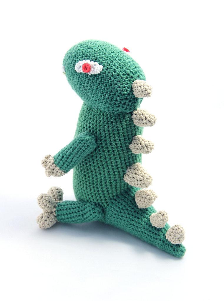 Amigurumi a uncinetto - Dinosauro Verde