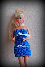 Abito Barbie,turchese
